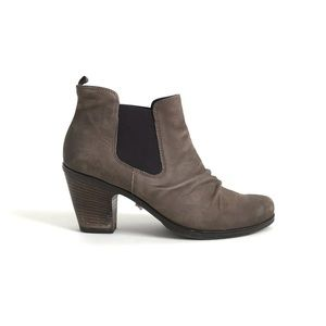 Paul Green Jano Leather Suede Ankle Booties 7